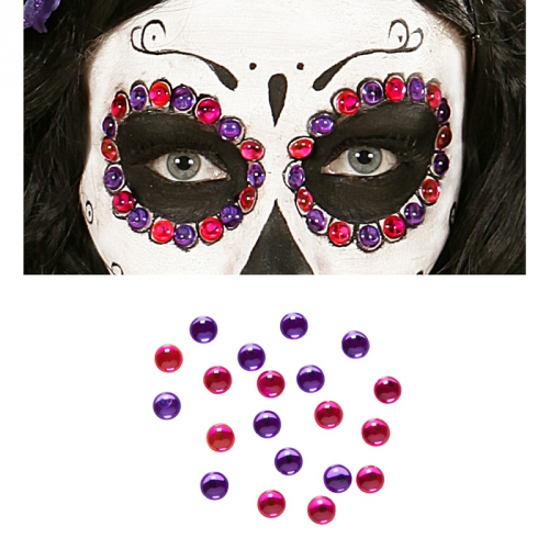 Dekorpärlor Day of the dead i gruppen Maskerad / Maskeradteman / Halloweentema  hos PARTAJSHOP AB (03413a)