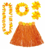 Hawaii kjol krans orange
