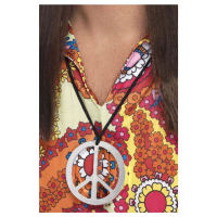 Halsband metall, peace hippie