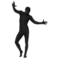 Morphsuit Second skin suit Svart