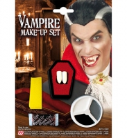 Vampyr make up set med tänder