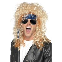 Heavy Metal rocker peruk blond
