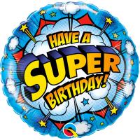 Folieballong Superhero Happy Birthday