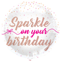 Folieballong Sparkle Happy Birthday