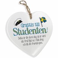 gratulationer till studenten Keramik hjärta Grattis till studenten gratulationer till studenten