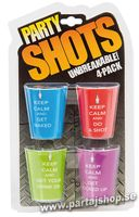 Party Shotsglas 4-pack
