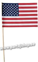 USA flagga på pinne