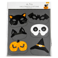 Pappersmask Halloween 6-pack