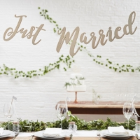 Backdrop Just married