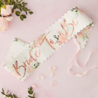 Ordensband Bride To Be Floral