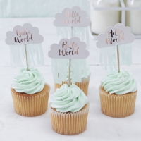 Cupcake picks hello world