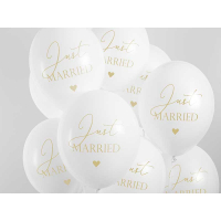 Ballong Just Married White & Gold