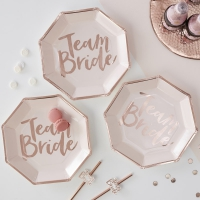 Team Bride Tallrikar 8-pack