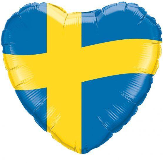 Folieballong Svenska Flaggan