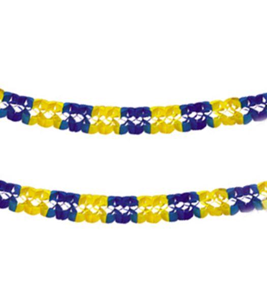 ef6a96869b6 Girlang, blå & gul