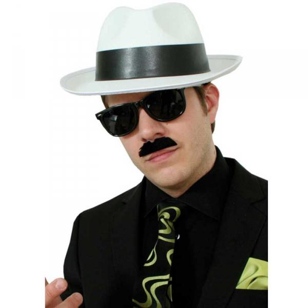 Gangsterhatt vit i gruppen Maskerad   Hattar   Vuxenhattar hos PARTAJSHOP  AB (207908-N222 a2958f3850bcb