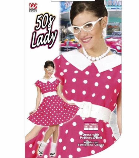 50 talsklänning rosa lady Large
