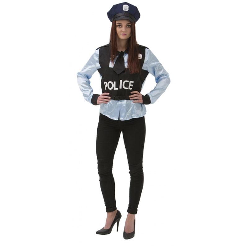 polis maskeraddräkt dam